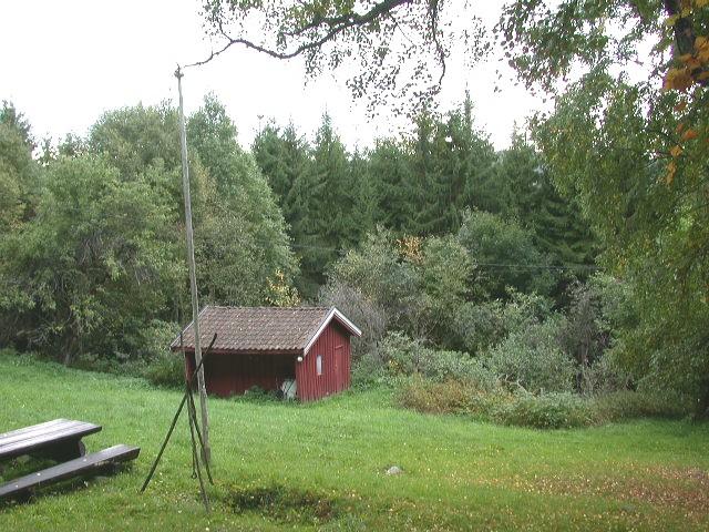 Det lille huset nedenfor hovedhuset på Wigen.