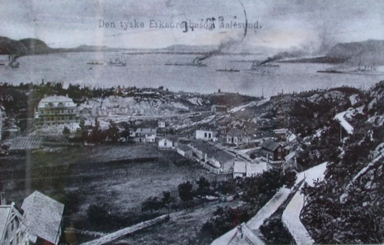 Ålesund etter brannen i januar 1904